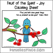 Brid on Branch Bible Verse Activity Sheet - Joy