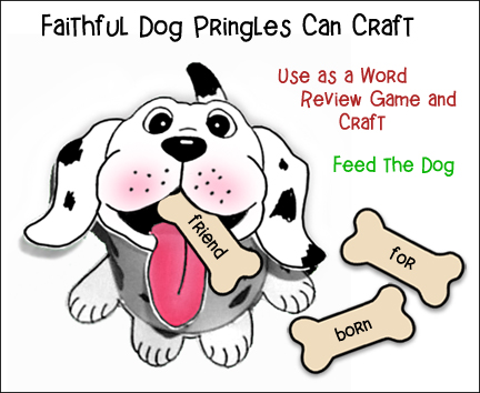 Pringles Can Dog Craft and Word Review Game from www.daniellesplace.com