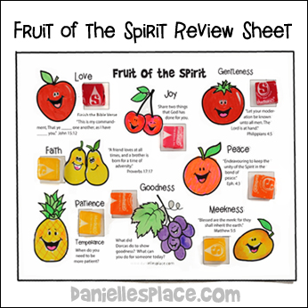 Fruit of the Spirit Review and Activity Sheet