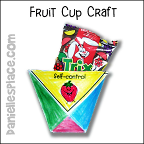 Fruit cup bible Craft for Children