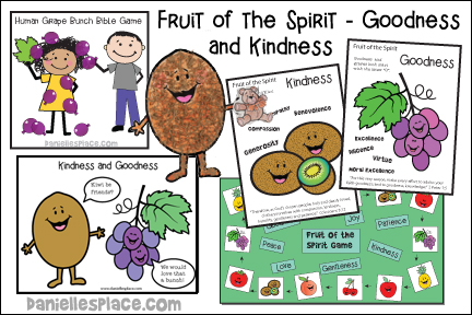 Fruit of the Spirit - Goodness and Kindness Bible Lesson for Children from www.daniellesplace.com