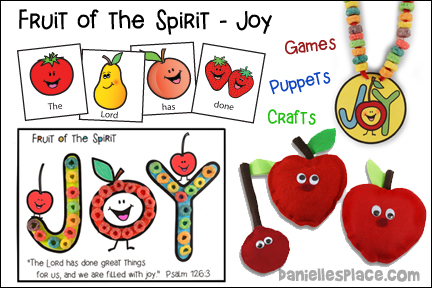 Fruit of the Spirit Bible Lesson - Joy from www.daniellesplace.com