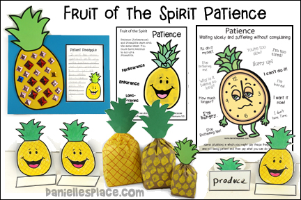 Fruit of the Spirit - Patience Bible Lesson with Crafts and Activities for children from www.daniellesplace.com