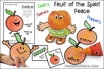 Fruit of the Spirit Peace Bible Lesson from www.daniellesplace.com