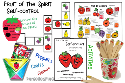 Fruit of the Spirit - Self-control Bible lesson for children from www.daniellesplace.com