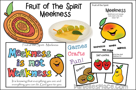 Fruit of the Spirit Bible Lesson on Meekness from www.daniellesplace.com