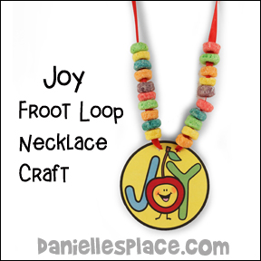 Joy- Froot Loop Necklace Craft for Fruit of the Spirit Lesson on www.daniellesplace.com