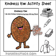 Kindness Kiwi Activity Sheet