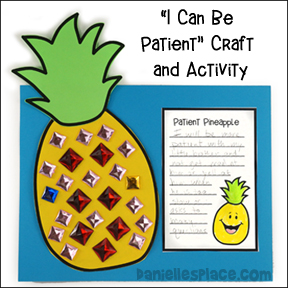"""I Can be Patient"" Pineapple Craft and Activity"