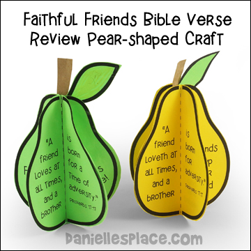 Faithful Friends Bible Verse Review Pear-shaped Craft