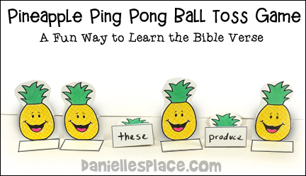 Pineapple Ping Pong Ball Toss Game