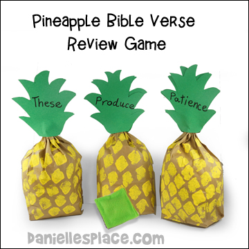 Pineapple Bible Verse Review Game