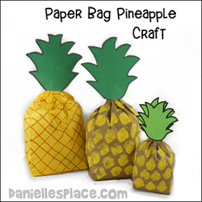 Paper Bag Pineapples Craft and Bible Game from www.daniellesplace.com