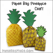 Pineapple Paper Bag Craft and Review Game
