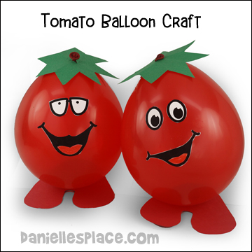Fruit of the Spirit - Gentleness Tomato Balloon Craft and Game