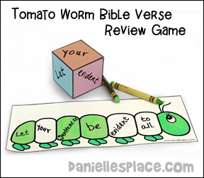 Bible Verse Review Game for Fruit of the Spirit Gentlenss