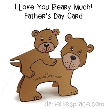 Dad I Love You Beary Much