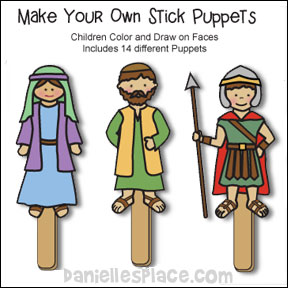 Soft image within bible character puppets printable