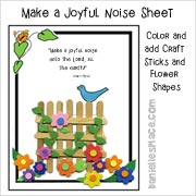 Make a Joyful Noise Bible Activity Sheet