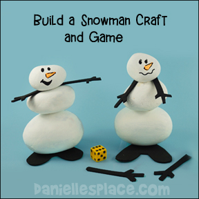 Rock Snowman Craft and Game