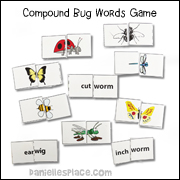 Compound Words Bug Game
