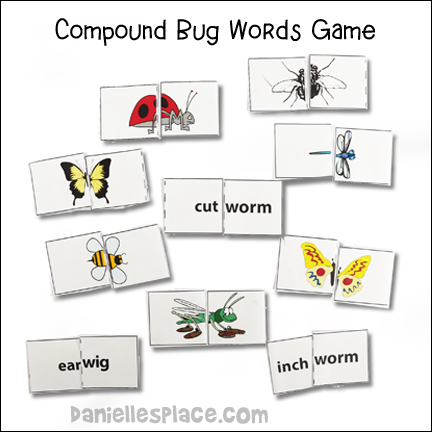 Compound Bug Words Game and Creative Activity from www.daniellesplace.com