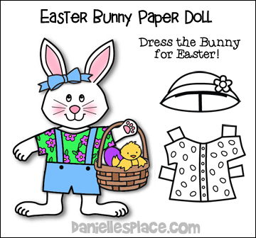 Easter Bunny Paper Doll - Dress the Bunny for Easter Printable