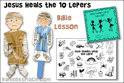 Jesus Heals the Ten Lepers Sunday School Lesson with Crafts, Activities and Games