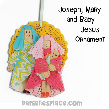 Joseph, Mary and Baby Jesus Christmas Ornament Craft for Kids