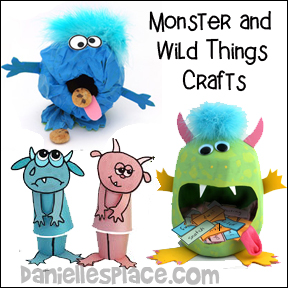 Monster and Wild Things Crafts for Kids