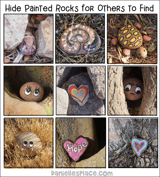 Painted Rocks Hidden for others to find, keep, or rehide