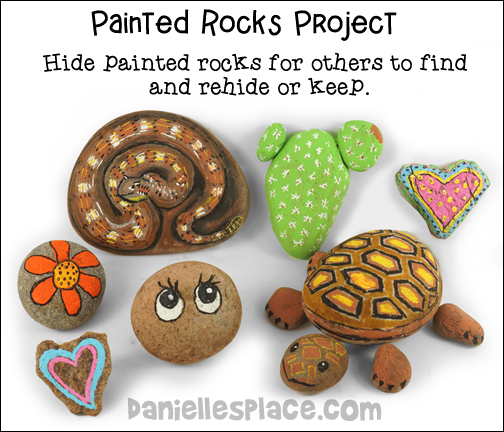 Painted Rock Project - Hide painted rocks for others to keep or rehide.