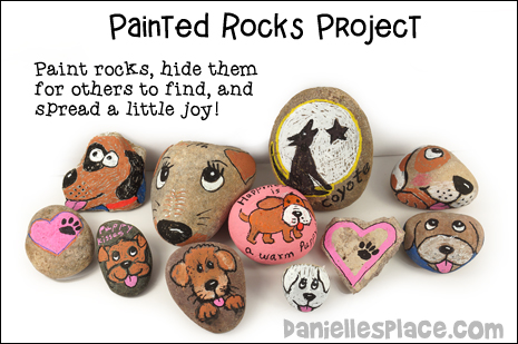 Painted Rocks Project Craft and commintiy activity for kids and adults