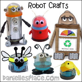 Robot Crafts for Kids from www.daniellesplace.com