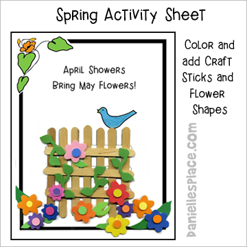 Bird on a Fence Spring Activity Sheet