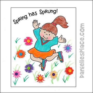 Spring has Sprung Coloring and Activity Sheet Craft for Kids