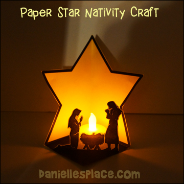 Paper Star Nativity Craft - Mary, Joseph, and Baby Jesus Craft