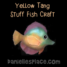 Yellow Tang Stuff Fish Craft