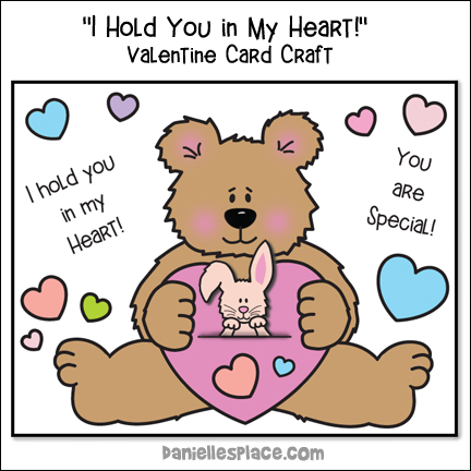 I Hold You In My Heart Valentine Card