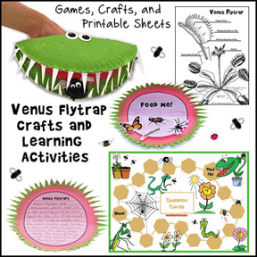 Venus Flytrap Crafts and Learning Activities