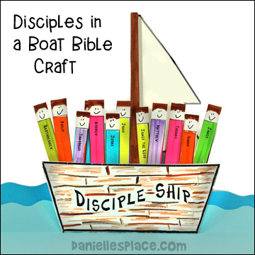 Disciples in a Boat Bible Craft