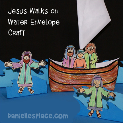 Bible Craft For Miracles Jesus Walks On Water