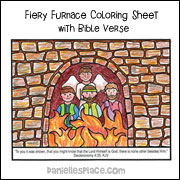 Fiery Furnace Coloring Sheet