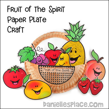 Fruit of the Spirit Paper Plate Basket Bible Craft for Sunday School