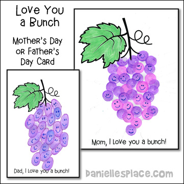 Love You a Bunch Mothers Day or Fathers Day Card