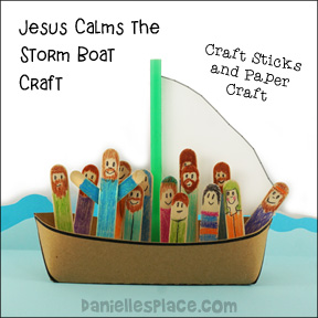 Jesus Calms the Storm Boat Craft