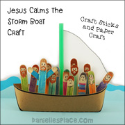 Craft Stick Jesus Calms the storm craft