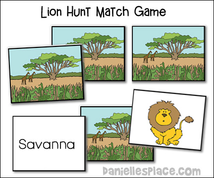 Lion Hung Vocabulary Match Game