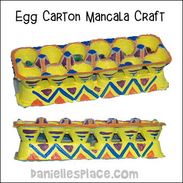 Egg Carton Mancala Craft