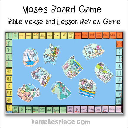 Moses Bible Verse and Bible Lesson Review Board Game